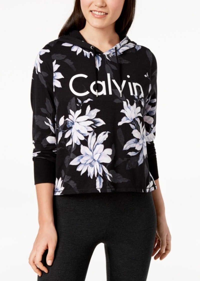 Calvin Klein Performance Printed Cropped Hoodie
