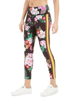 Calvin Klein Performance Printed Striped High-Waist Leggings