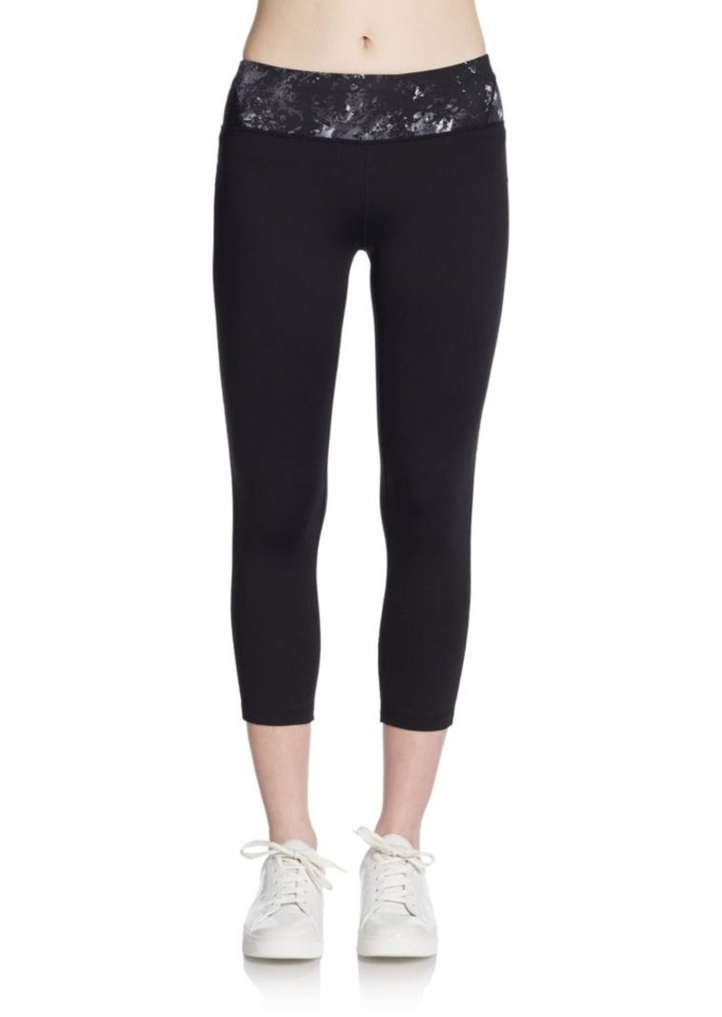 Calvin Klein Performance Printed-Waist Cropped Leggings