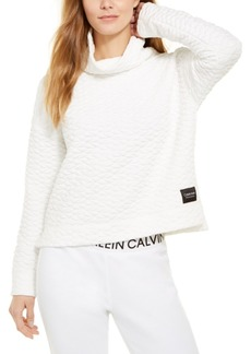 Calvin Klein Performance Quilted Cowlneck Top