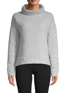 Calvin Klein Performance Quilted Funnelneck Pullover