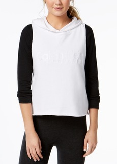 Calvin Klein Performance Relaxed Cropped Sleeveless Hoodie