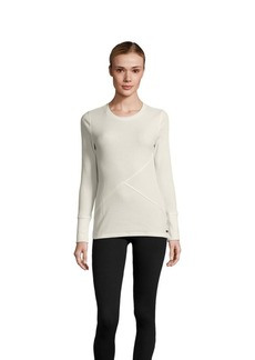 Calvin Klein Performance Ribbed Cotton-Blend Solid Pullover