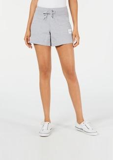 Calvin Klein Performance Ribbed-Waist Raw-Hem Shorts