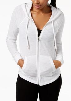Calvin Klein Performance Ruched-Sleeve Zip Hoodie