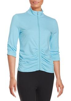 CALVIN KLEIN PERFORMANCE Ruched Zip-Front Jacket