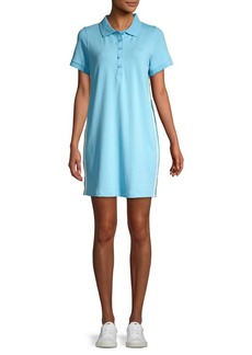 Calvin Klein Performance Side-Stripe Polo Dress