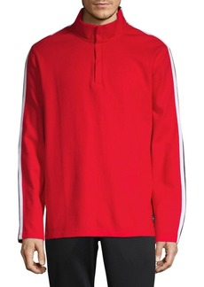 Calvin Klein Performance Side Striped Mockneck Pullover