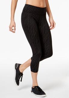 Calvin Klein Performance Reflective Snake-Print Capri Leggings