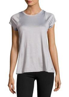 Calvin Klein Performance Solid Jewelneck Top