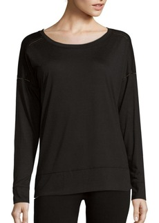 Calvin Klein Performance Solid Roundneck Long Sleeve Top