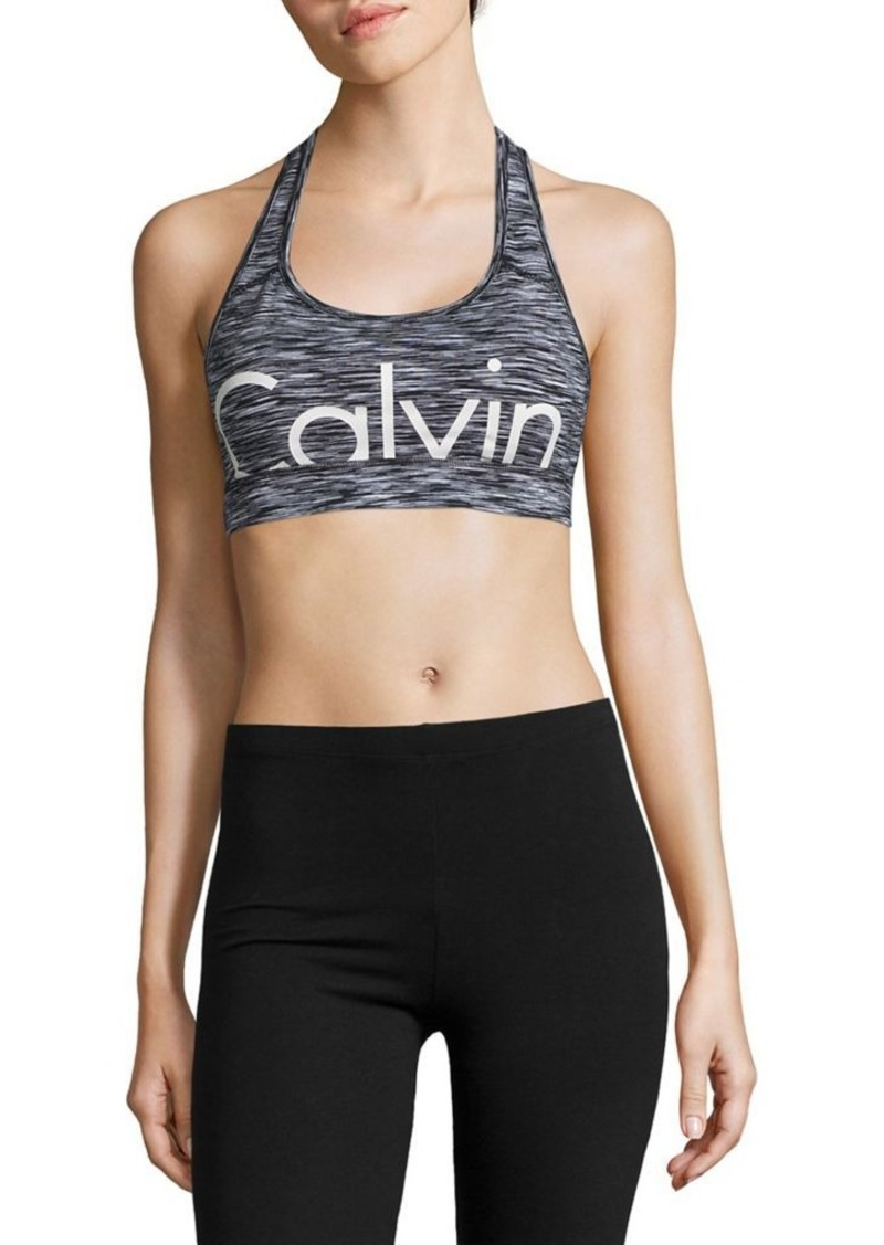 7a3551cd6b Performance Space-Dyed Logo Sports Bra