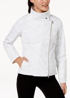 Calvin Klein Performance Spectator Printed Asymmetrical-Zip Hooded Jacket