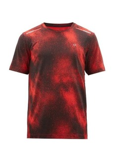 Calvin Klein Performance Spraypaint-print technical jersey T-shirt