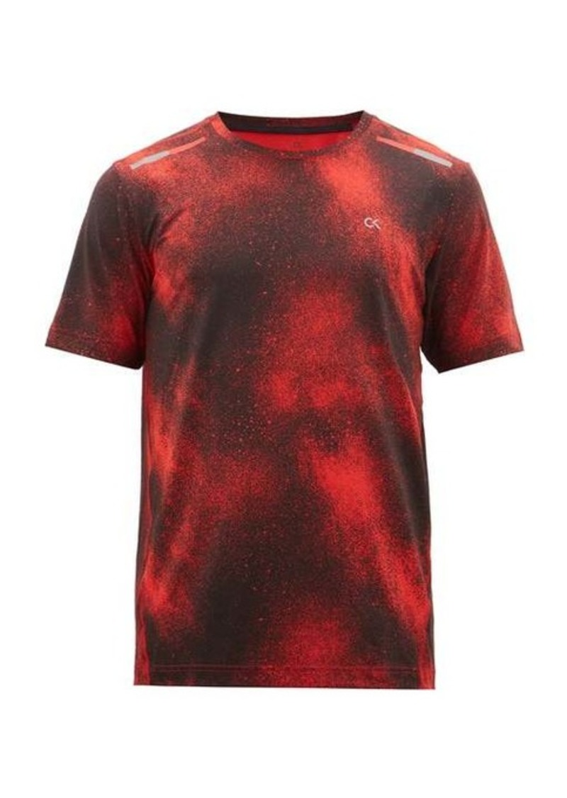 Calvin Klein Performance Spraypaint-print technical jersey T-shirt