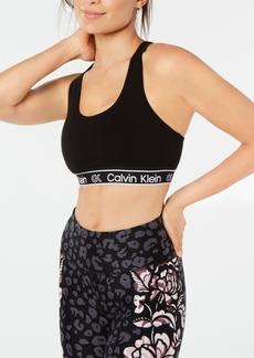 Calvin Klein Performance Strappy Keyhole-Back Medium-Impact Sports Bra