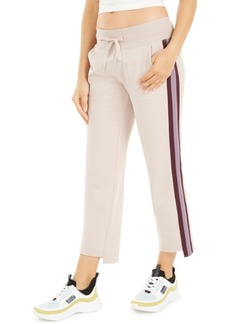 Calvin Klein Performance Stripe Wide-Leg Step-Hem Pants
