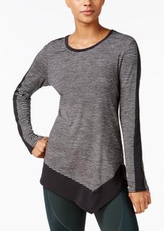 Calvin Klein Performance Striped Asymmetrical-Hem Top