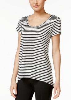 Calvin Klein Performance Striped Cutout-Back T-Shirt