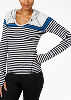 Calvin Klein Performance Striped Hooded Top