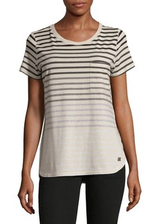 Calvin Klein Performance Striped Slit Tee