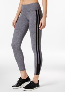 Calvin Klein Performance Striped Zippered Yoga Leggings