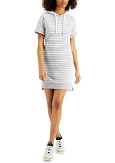 Calvin Klein Performance Surfside Striped Hoodie Dress