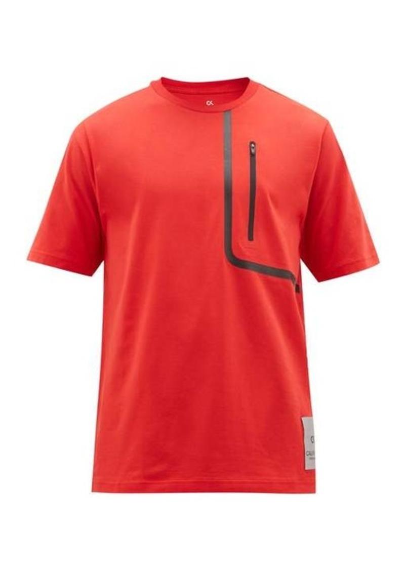 Calvin Klein Performance Taped-pocket jersey T-shirt