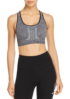 Calvin Klein Performance Textured Logo Sports Bra