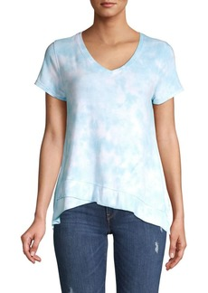 Calvin Klein Performance Tie Dye Asymmetric Hem T-Shirt