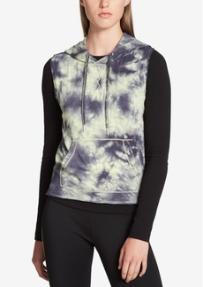 Calvin Klein Performance Tie-Dyed Cropped Sleeveless Hoodie