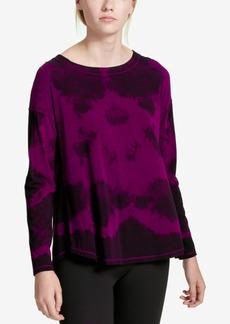 Calvin Klein Performance Tie-Dyed Drop-Shoulder Top