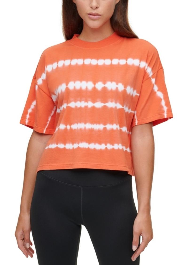 Calvin Klein Performance Tie-Dyed Mock-Neck Top