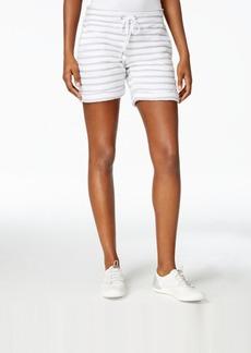 Calvin Klein Performance Tie-Waist Striped Shorts