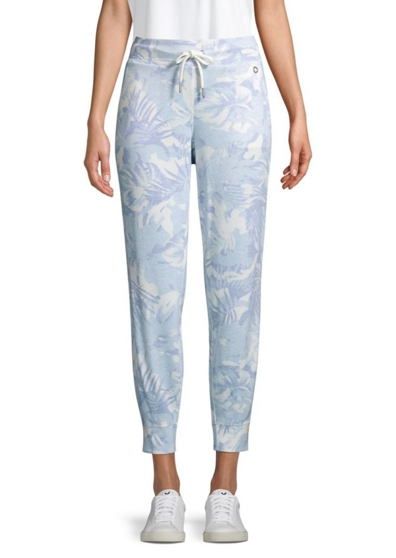 Calvin Klein Performance Tropical-Print Drawstring Pants