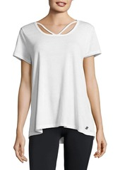 Calvin Klein Performance V-Neck Cotton-Blend Top