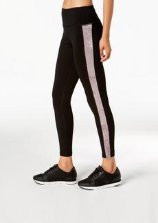 Calvin Klein Performance Velour-Inset High-Waist Leggings