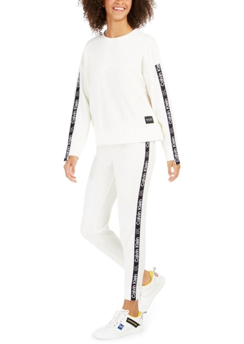 Calvin Klein Performance Velour Logo Sweatshirt