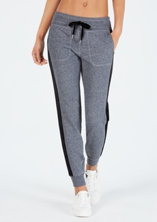 Calvin Klein Performance Velour-Stripe Fleece Pants