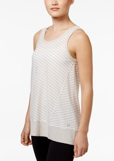Calvin Klein Performance Venice Beach Striped Keyhole-Back Tank Top