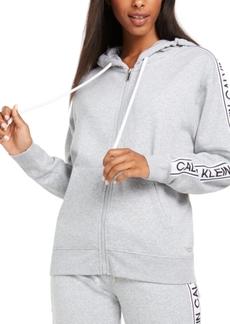 Calvin Klein Performance Vintage-Logo Zip Hoodie