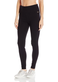 "Calvin Klein Performance Women's 32"" Inseam Control Waistband Full Length Legging-Techno Roma  M"
