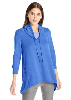 Calvin Klein Performance Women's 3/4 Sleeve Sharkbite Cowl Neck Pullover  L