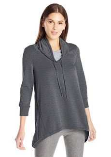 Calvin Klein Performance Women's 3/4 Sleeve Sharkbite Cowl Neck Pullover  M