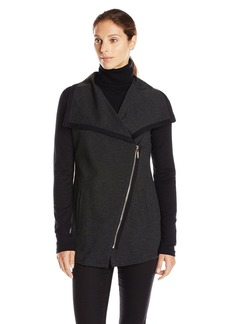 Calvin Klein Performance Women's Asymmetrical Zip Ponte Knit Jacket