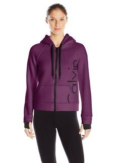 Calvin Klein Performance Women's Bonded Knit Logo Jacket  X-Large