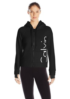 Calvin Klein Performance Women's Bonded Knit Logo Jacket