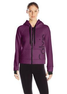 Calvin Klein Performance Women's Bonded Knit Logo Jacket  edium