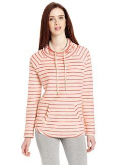 Calvin Klein Performance Women's Boucle Stripe Funnel Neck Sweatshirt