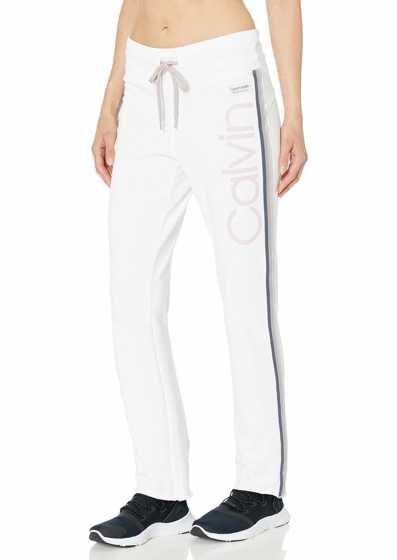 Calvin Klein Performance Women's Calvin Logo High Waist Ankle Length Pant
